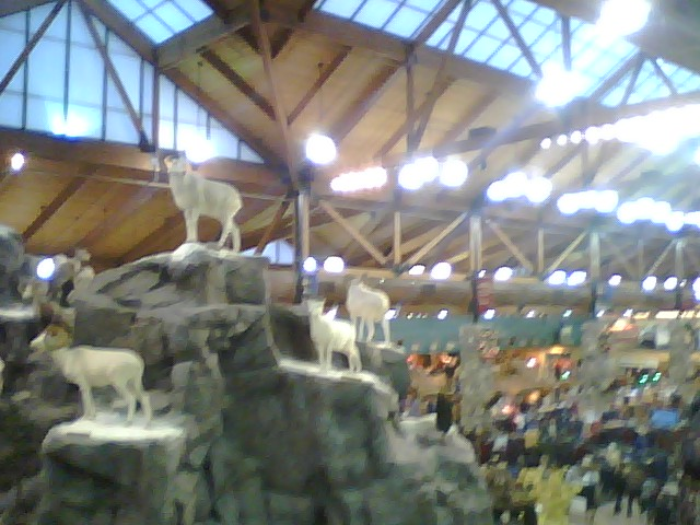man made mountain inside cabelas - Overly Country Christmas